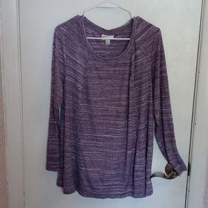 Ava & Viv Purple Tunic Plus X